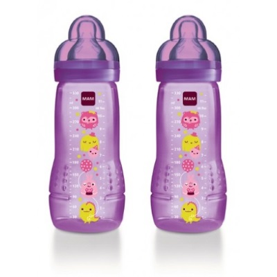 MAM Baby Bottle 330ml (Twin Pack)