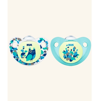 Nuk Glow In The Dark Silicone Soother 6-18m (2pcs)-Pacifier