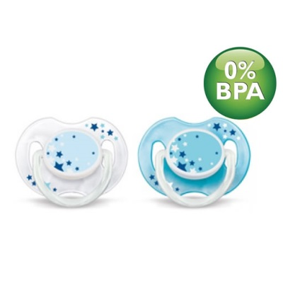 Philips Avent Night Time Pacifiers 0-6M (2pcs) (Silicone Soothers)