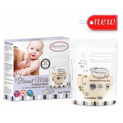 Autumnz Double Zip Lock Breastmilk Storage Bags ( 25pcs ) - 5oz (3 Boxes)