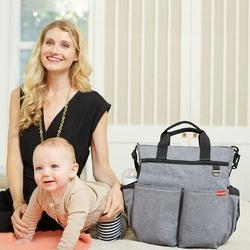 Skip Hop Duo Signature Diaper Bag - Heather Grey