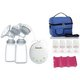 Treenie Kompakto Electric Double Breastpump+V-Coool Cooler Bag +Autumnz Premium Contoured Ice Pack (1pc) +Autumnz Breastmilk Storage Bottles 4pcs